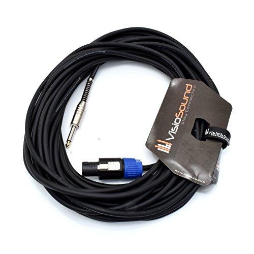 PA Lautsprecherkabel 6,3mm Klinke auf Speakon Kompatibel mit Rean/Neutrik Stecker/Professionelles Boxenkabel 15m