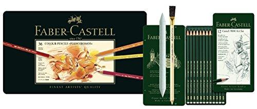 Faber-Castell 110036 - Künstlerfarbstift POLYCHROMOS (36er Metalletui Art Set)