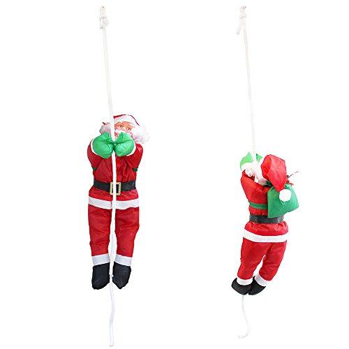 lux.pro Papá Noel Escalador de 85cm a 40cm decoración Navidad