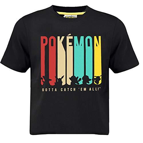 Pokémon Pikachu Jungen T-Shirt mit Glumanda, Evoli, Shiggy, Bisasam & Pikachu| Pokemon Kinder/Jungen T-Shirt, Offiziell lizenzierte Merchandise (9/11 Jahre)