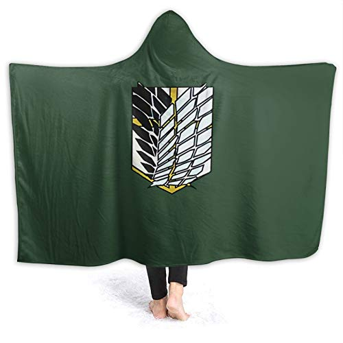 xiaoxiaoshen Attack On Titan Hoodie Blanket Scout Regiment Cloak Anime Cosplay Hooded Blankets 60'X50'