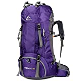 60L Waterproof Ultra Lightweight Hiking Backpack with Rain Cover,Outdoor Sport Daypack Travel Bag...