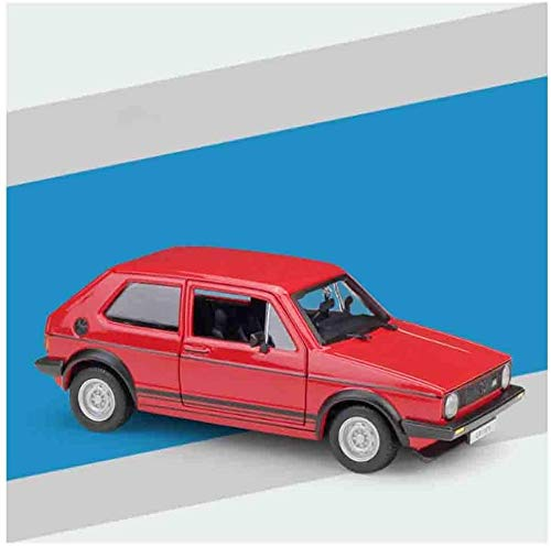 KJAEDL Model Cars For Kids Die-casting Car Model Car Realistic Golf Mk1 GTI 1979 Model Alloy Children's Toys Can Open the Door Suitable (Color : Red)