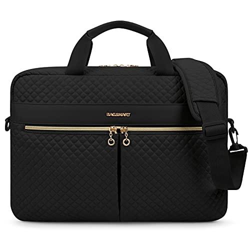 17.3 Inch Laptop Bag,BAGSMART Briefcase for Women Large Laptop Case Computer Bag Office Travel Business,Black