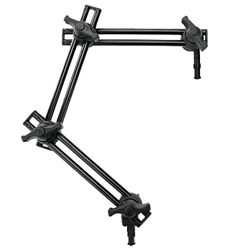 Fotoconic 3 Section Double Articulated Arm Without Camera Bracket, Compatible with Super Clamp, Angle Adjustable, 5/8' Stud with 3/8' Screw Thread Hole