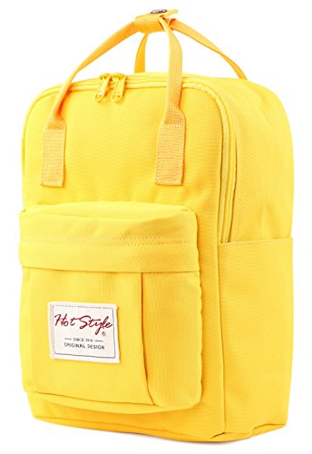 BESTIE 12 Cute Mini Small Backpack Purse Travel Bag, Yellow