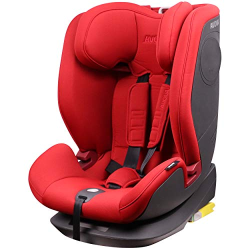 AVOVA Sanderling-Fix Silla de coche Arce Rojo Grupo 1/2/3 con ISOFIX, 9-36 kg 9 meses-12 años