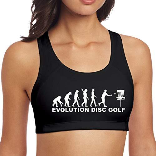 TeMcn_diy Evolution Disc Golf Womens Running Yoga Bra Gym Activewear