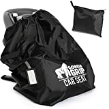 Gorilla Grip Car Seat Bag with Pouch, Bonus Luggage Tag, Adjustable Padded Straps for Backpack, Easy Carry,...