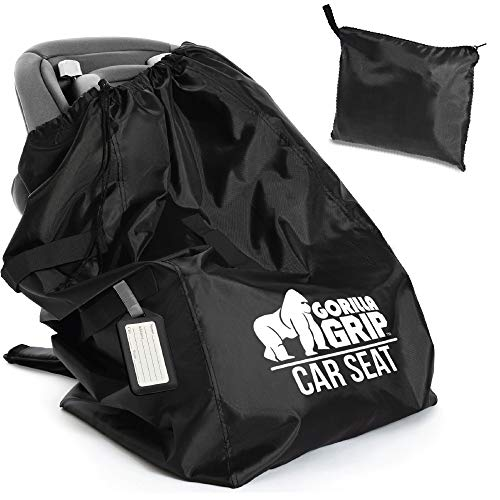 Gorilla Grip Car Seat Bag with Pouch and Luggage Tag, Adjustable...