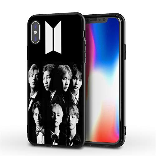 LvShui BTS iPhone 7 Plus/iPhone 8 Plus Funda Carcasa Silicona Case Cover Jimin V Jung Kook Suga Jin RM J-Hope para Apple iPhone 7 Plus/iPhone 8 Plus