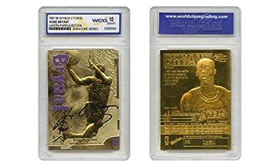 1997-98 KOBE BRYANT Skybox Z-Force 23K Gold Signature Card Lakers Purple - Graded GEM-MINT 10