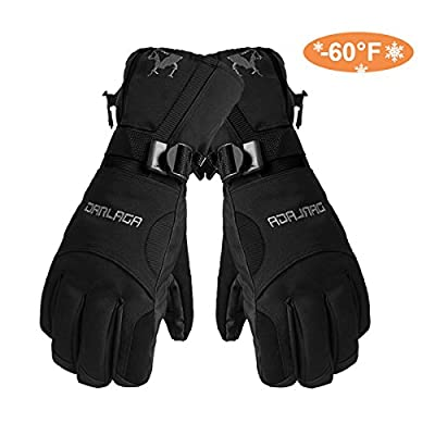 Skiing Gloves, Waterproof Thermal Winter Snowboarding Gloves Cycling Snowmobile Motorcycle Outdoor Sports Adjustable Gloves--Man's