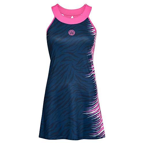 BIDI BADU Damen Kleid-Daria Tech Dress (2 In 1) -Dark Blue, GRÖßE:XL, Blau/Pink, XL