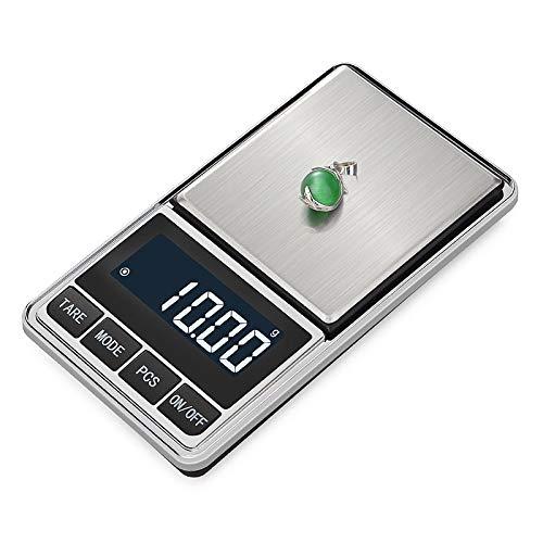 LIXUDECO Escala de Escala de joyería electrónica Balance Escala de gram 0.01 Precisión para la precisión de Oro Mini Bolsillo Escala de Pesas de la Cocina (Color : 300g x 0.01g)