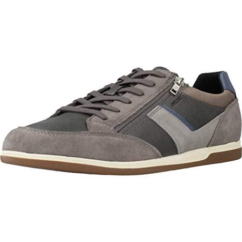 Geox U Renan C, Zapatillas Hombre, Gris (Grey/Jeans C1f4w), 45 EU