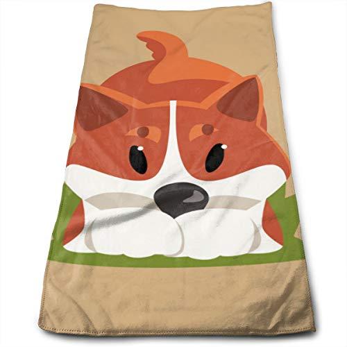 Perro de Dibujos Animados de Pelo Rojo Welsh Corgi en Pose juguetona Toallas de Mano - Secado rápido y Altamente Absorbente