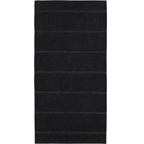 Cawö Home Carat Allover 581 - Toalla de mano (80 x 150 cm), color negro