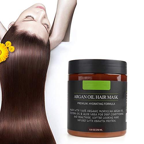 Masque Capillaire à L'Huile d'Argan Duevin 250g, Traitements Capillaires Revitalisants Traitement Capillaire En Profondeur, Soins Capillaires Durables pour Cheveux AbîMéS et Secs