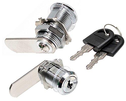 1 Schrankschloß Hebelschloß 20 mm Universalzylinder Möbelschloß Briefkastenschloß Durchmesser 19 mm