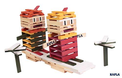 KAPLA OCTOCOLOR, 100 Holzplättchen, 8 verschiedene Farben - 9