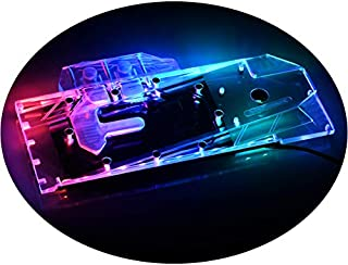 GPU Copper Waterblock G1/4 Threads Full Cover Water Cooling Water Block PC Liquid Cooling GPU Watercooling Block for Graphic Cards AMD RX 5700 XT RX 5700 Founder's Edition 5V RGB RBW LED