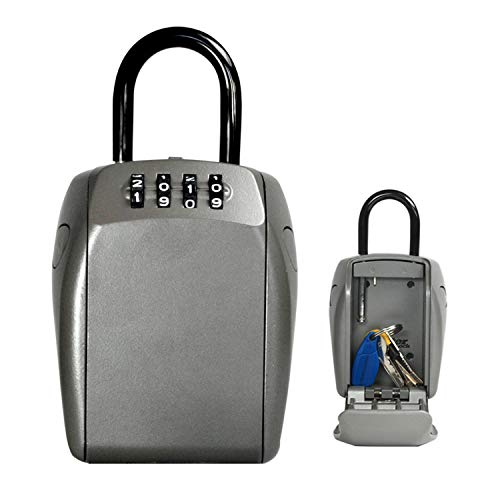 Master Lock Caja fuerte para Llaves [Seguridad reforzada] [Con arco] - 5414EURD - Caja de seguridad
