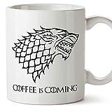 MUGFFINS Taza Parodia de Juego de Tronos - Game of Thrones Mug - El café se...