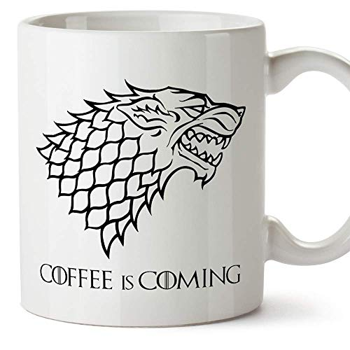Game of Thrones Tasse - Coffee is Coming - Haus Stark Schild - TV Mugs/Becher - 350 ml