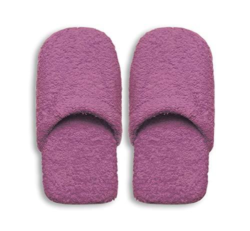 Excelsa Caldo Pantofole da Bagno Donna, Spugna, Lilla, 27.5 X 11 X 3 Cm
