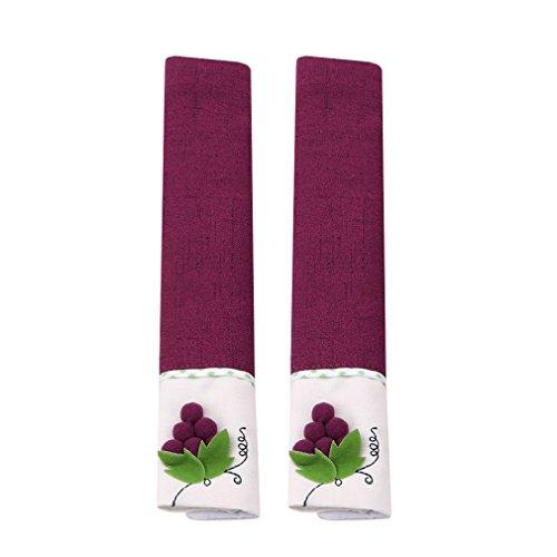 LALANG Refrigerator Door Handle Covers Kitchen Appliance Fridge Supplies (purple)