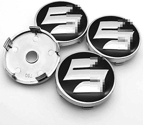 MixFactory 4pcs Auto Wheel Hub Center Caps Cubiertas 57 / 60mm para Suzuki CELERIO Spacia Baleno Reemplazo Insignia Emblema Cubiertas Decorativas Embellecedores de Ruedas