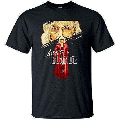 Tシャツ(BLACK)すべてがS-5XLのサイズアトミックブロンドV1、デヴィッド・リーチ、映画のポスター、,ブラック,M