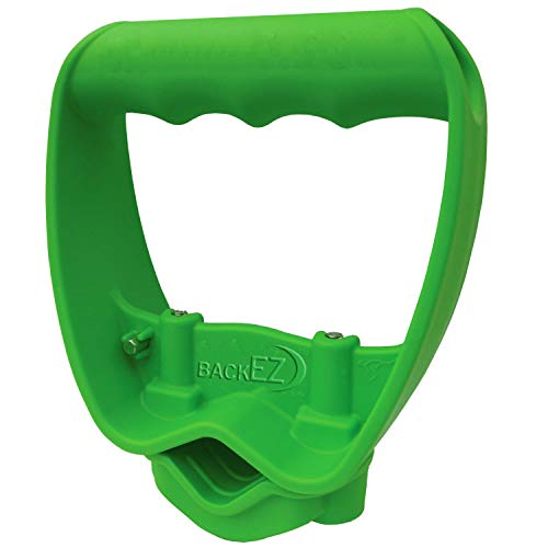 BackEZ Back-Saving Tool Handle Attachment, Labor-Saving Ergonomic Shovel or Rake Handle, Add-on Universal Fitting Grip, Quick Installation, Green