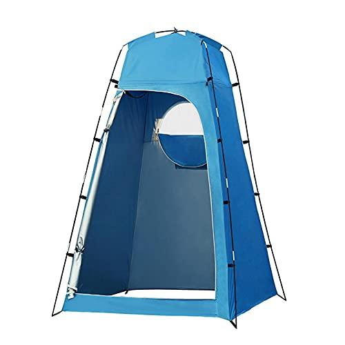 Tablecloth Tienda de campaña para inodoro con ducha emergente, tienda de privacidad, para cambiar al aire libre, vestir, pesca, baño, almacenamiento, tienda, protección UV