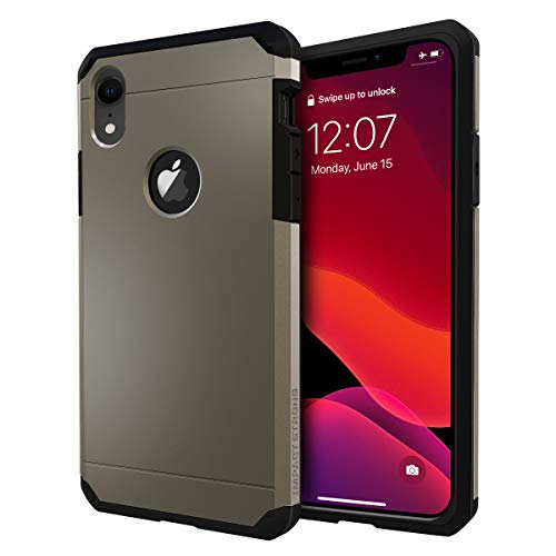 iPhone XR Case, ImpactStrong Heavy Duty Dual Layer Protection Cover Heavy Duty Case for iPhone XR 2018 6.1 inch (Gun Metal)