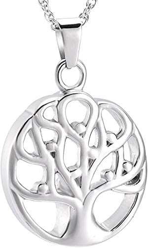 Keepsake Pendant Family Tree Cremation Ashes Ashes Necklace Stainless Steel Tree Box Souvenir Ashes Funeral Jewelry