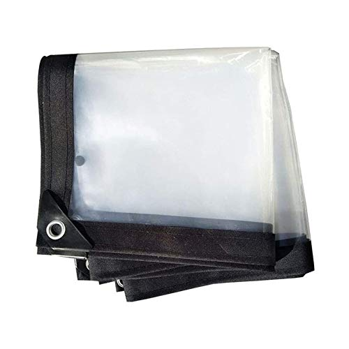 BWBG Lonas Impermeable Transparente 5X6M/16x20ft, Lona Impermeable Resistente A La Intemperie Carpa Exterior De PláStico para Plantas Invernadero Pet Hutch Roof
