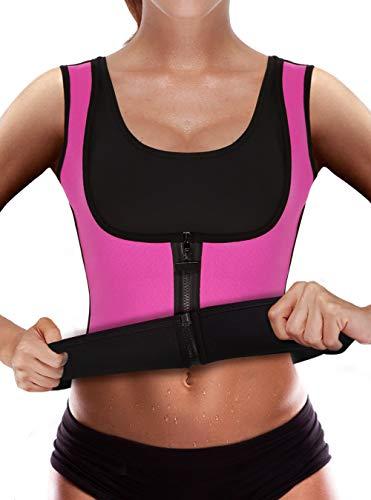 Ribika Neopren-Unterhemd für Gewichtsverlust, Damen, rose, Medium