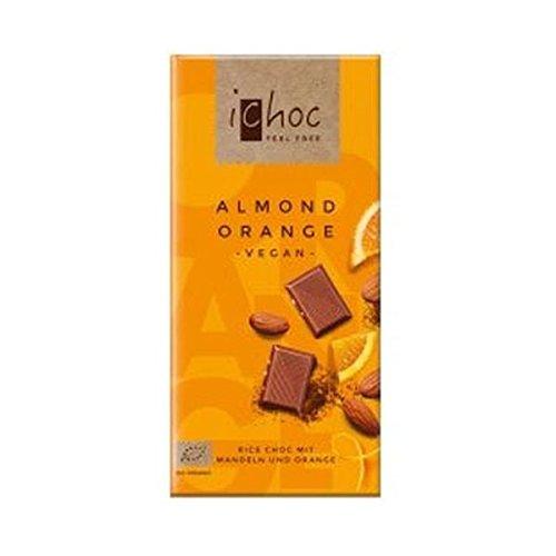ichoc オーガニックライスミルクチョコ・アーモンド&オレンジ 80gx2個セット