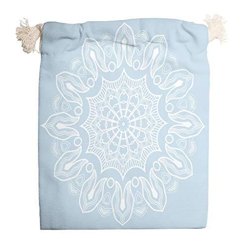 Lind88 Aufbewahrungstasche mit Kordelzug, atmungsaktiv, für Thanksgiving, Jahrestag, Geschenkverpackung, Hellblau, 6 Stück, Baumwolle, weiß, 12 * 18cm