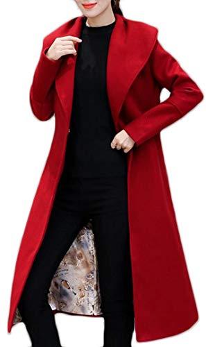 Eastery windjack voor dames, lang, lange mouwen, revers, effen kleuren, parkeerknoppen, comfortabele maten, cardigan jas, moderne stijl, bovenkleding