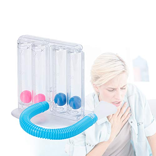 Woniu Ejercitador De Pulmón Respirómetro, Entrenador Respiratorio con Protección De La Salud Y El Medio Ambiente. Fácil De Limpiar para De Mediana Edad Y Ancianos Niño