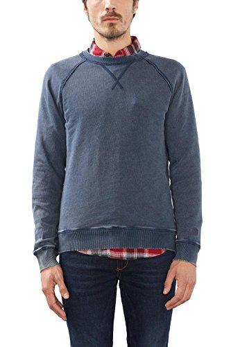 ESPRIT Herren 116EE2J002 Sweatshirt, Blau (Navy 400), Large