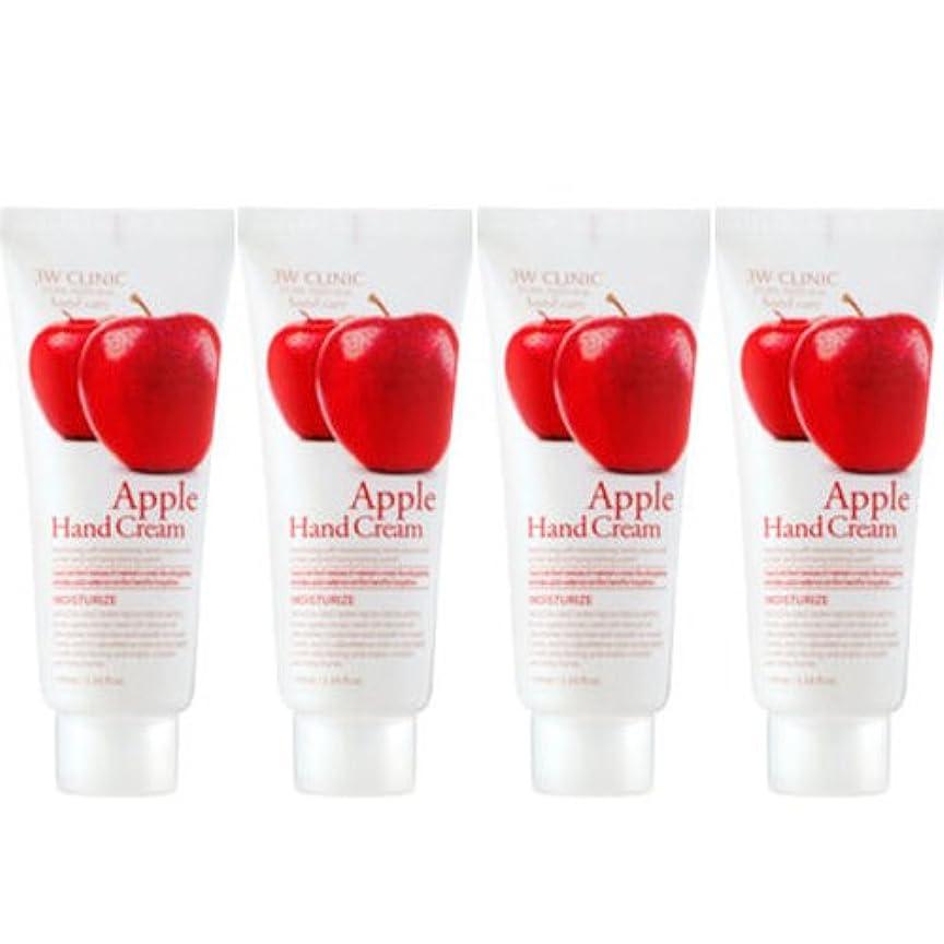 大陸スマッシュ寄付する3w Clinic[韓国コスメARRAHAN]Moisturizing Apple Hand Cream モイスチャーリングリンゴハンドクリーム100mlX4個 [並行輸入品]