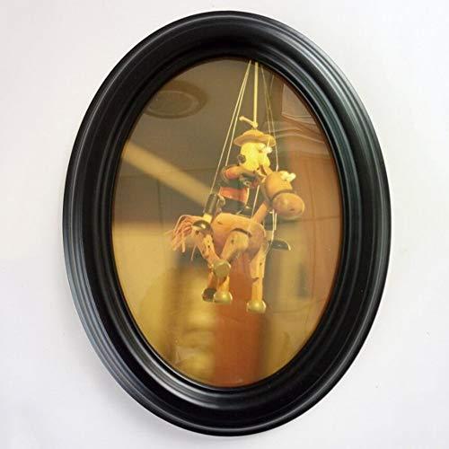 ZH Cadre ovale noir de 10 po. Cadre à photo avec cadre combinant photo et cadre photo créatif 8X10