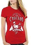 CottonCloud Wild Chocobo Camiseta para Mujer T-Shirt Final VII Juego de rol, Color:Rojo, Talla:M