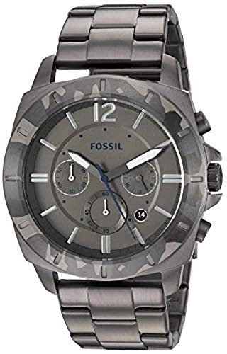 Fossil Privater Sport Chronograph Stainless Steel Watch - BQ2345 Smoke One Size