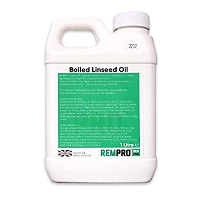 Rempro 1 Litre Boiled Linseed Oil - Professional Grade Wood Treatment Sealer