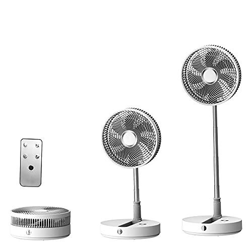 APCHY Ventilador De Pie Plegable Portátil Telescópico Ventilador De Mesa con Batería Recargable USB De 7200 mAh Silencioso De 8 Velocidades Ventilador con Temporizador De Control Remoto